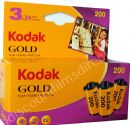 Kodak Gold 200 iso 35mm 24 exposure Colour Print Camera Film 3 PACK SPECIAL